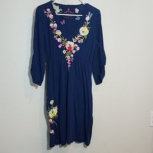 Johnny Was Embroidered Dress